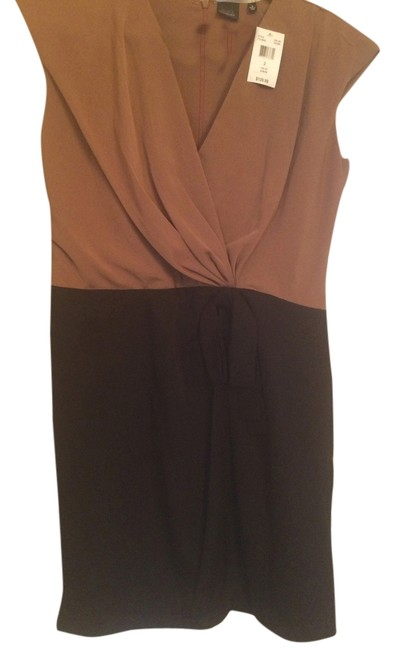 Item - Black and Tan Perfect To Night Out Transition Above Knee Work/Office Dress Size 4 (S)