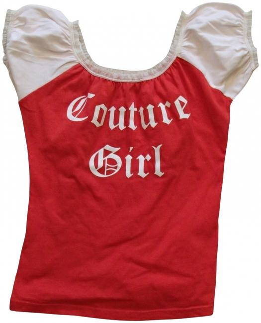 Juicy Couture T Shirt Pink & Red
