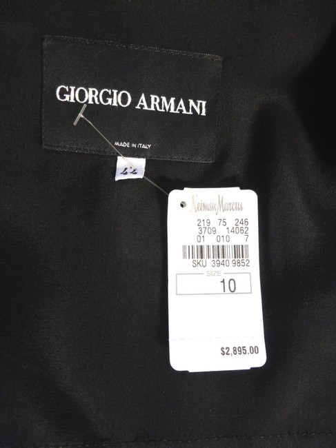 Giorgio Armani Wool Silk Black Jacket