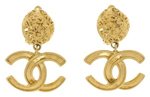 Chanel Chanel Vintage Gold CC Logo Earrings