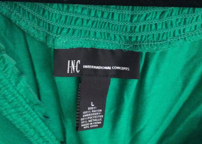 INC International Concepts Top Green and white