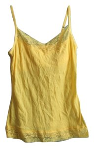 Lace Lace Trim Top Yellow