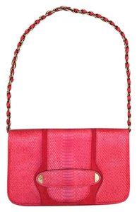 Marc Jacobs Python Leather Clutch Shoulder Bag
