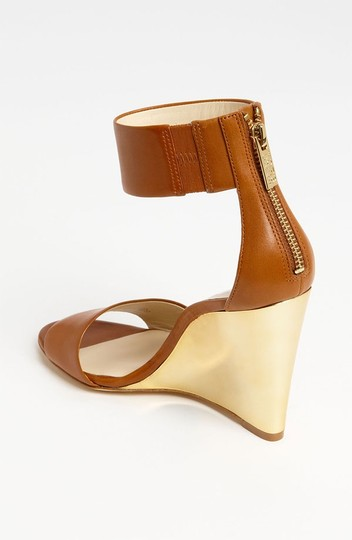 Michael Kors Leather Luggage Wedges