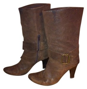 K X & Co. Kx & Co. Hooded Steampunk Distressed Brown Leather Boots