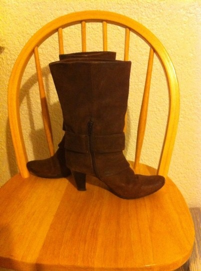 K X & Co. Kx Hooded Steampunk Distressed Brown Leather Boots