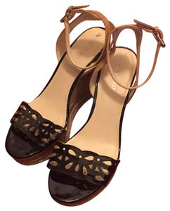 Nine West Black, tan, cork Wedges
