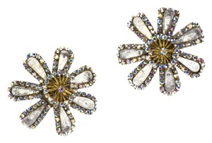 Chanel Chanel Vintage Rhinestone Flower Earrings