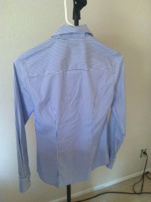 J.Crew Button Down Shirt white/blue