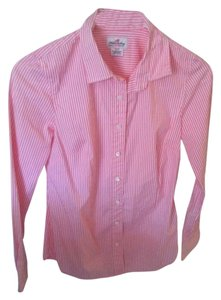J.Crew Button Down Shirt white/pink