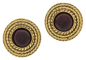 Chanel Chanel Vintage Gold Button Earrings