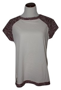 Sanctuary Clothing Chiffon Threaded Top White/Burgundy