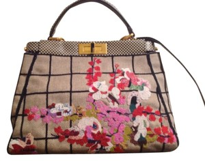 Fendi Beaded Embroidered Satchel in Multi