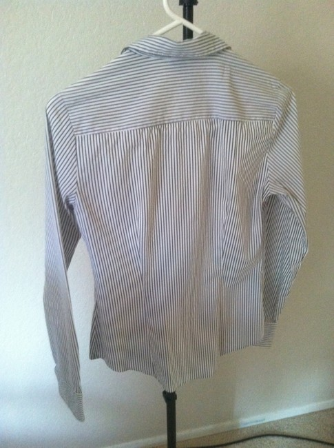 H&M Button Down Shirt White/gray