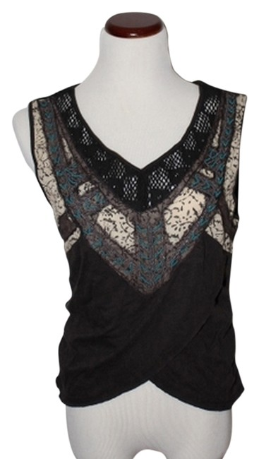 Preload https://item2.tradesy.com/images/free-people-browngreen-bead-embroidered-sleeveless-blouse-size-8-m-4157866-0-0.jpg?width=400&height=650