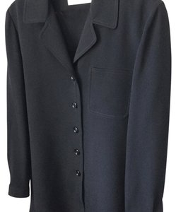 Dana Buchman Navy Silk Jacket