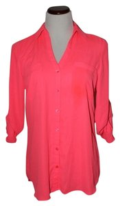 Express Button Down Hot Top Pink