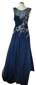 Beside couture Tulle Silver Gown Lace Dress
