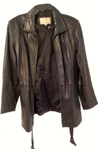 Nine West Leather Quality Zipper Leather Jacket