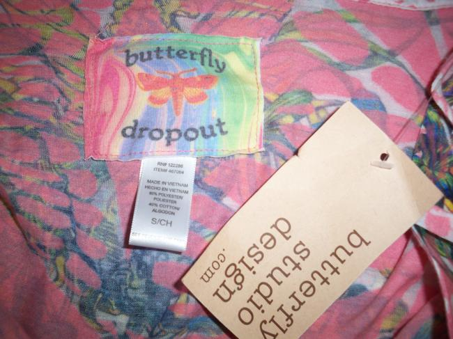 Butterfly Dropout Top