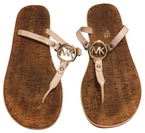 Michael Kors White and cork Sandals
