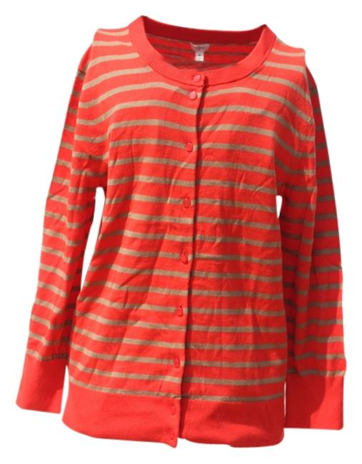 Preload https://img-static.tradesy.com/item/4158313/jcrew-orange-and-tan-stripes-cardigan-new-with-tags-sweaterpullover-size-10-m-0-0-650-650.jpg
