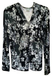 Alberto Makali Beaded Beads Hoodie Zipper Sweater Floral New York Paris Milano Italian Italy Black White Jacket