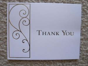 White & Silver 50 - Thank You Cards