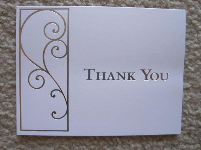 Item - White & Silver 50 - Thank You Cards