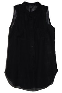 Wet Seal Sheer Button Down Shirt Black