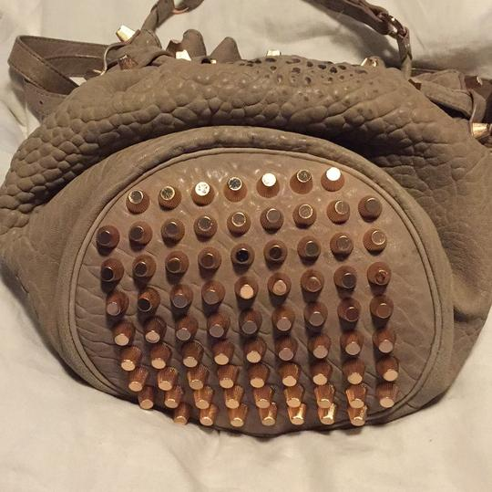 Alexander Wang Satchel in Light Taupe and Rose Gold Hardware