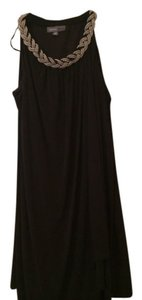 Donna Ricco Braided Neckline. Wrap Dress