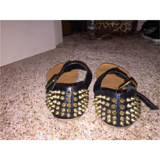 Wild Pair Spiked Black & Gold Sandals Black and Gold Sandals