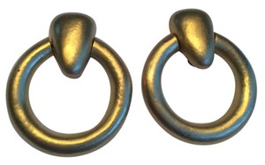 Other Matte Gold Large Clip on Earrings