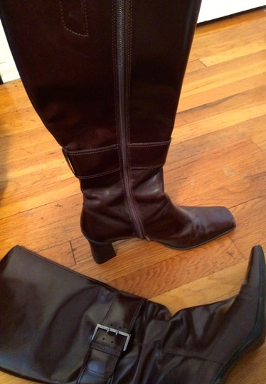 Nine West Leather Comfortable Dark Brown Boots