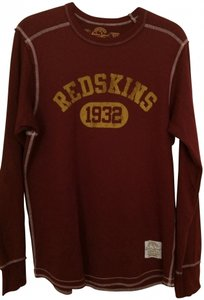 Retro Sport Redskins Men's T Shirt Burgundy and Gold