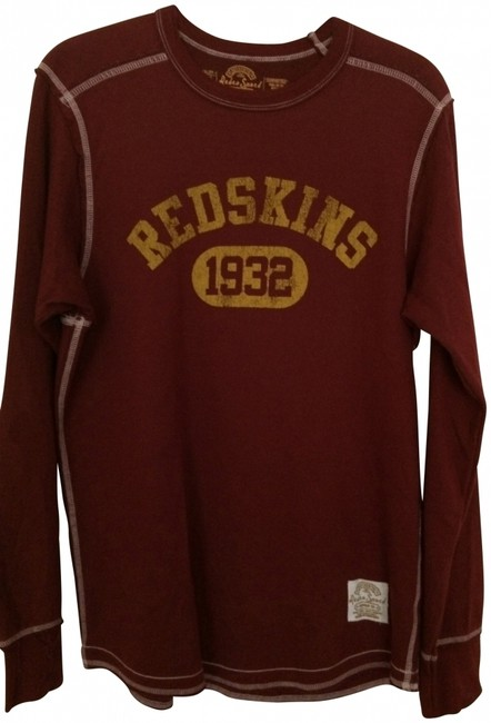 Retro Sport Redskins Men's Larg T Shirt Burgundy and Gold