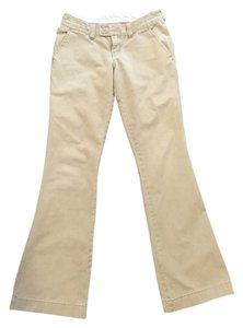 Abercrombie & Fitch Flare Pants Khaki