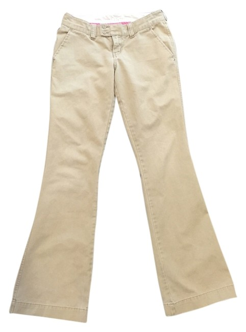 Preload https://img-static.tradesy.com/item/4158934/abercrombie-and-fitch-khaki-flared-pants-size-2-xs-26-0-0-650-650.jpg