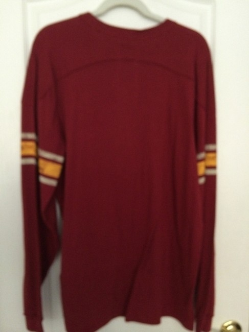 NFL Retro Throwback & Redskins Xlarge Mens T Shirt Burgundy and Gold