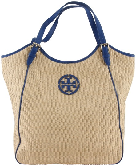 Preload https://img-static.tradesy.com/item/4159210/tory-burch-slouchy-leather-trimmed-blue-straw-tote-0-2-540-540.jpg