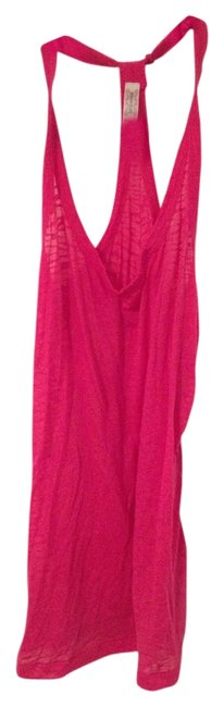 Bozzolo Sheer Pattern T-strap Top Hot Pink