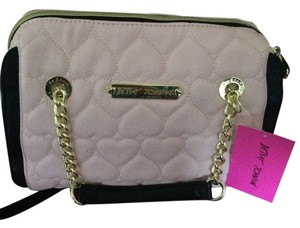Betsey Johnson Satchel in Pink and Black