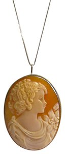 Italy Cameo Sterling Silver Italian Cameo Pin/Pendant