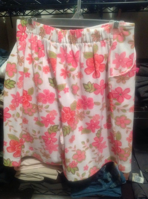 Dress Barn Skirt White with Pink Flowers