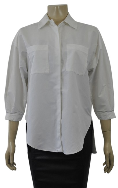 Preload https://img-static.tradesy.com/item/4159567/diane-von-furstenberg-white-shirt-small-sn-button-down-top-size-4-s-0-0-650-650.jpg
