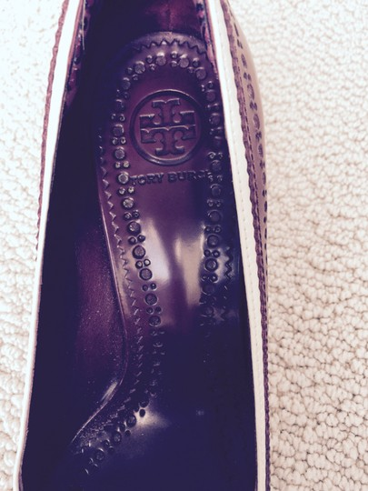 Tory Burch Ivory and Cabernet Pumps