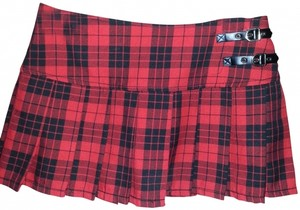 Abbey Dawn by Avril Lavigne Mini Skirt Red & Black