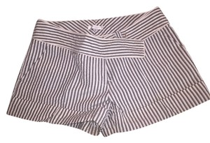 Campaigne Mini/Short Shorts Gray and White Striped