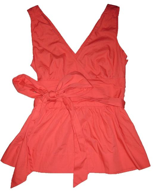 Anthropologie Top Coral Pink